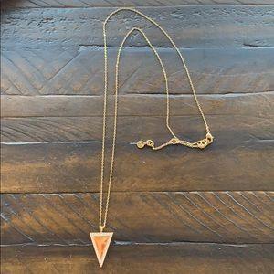 Chloe + Isabel Pavé Triangle Long Pendant Necklace